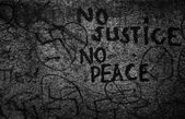 No justice-No peace concrete texture and background — Stock Photo