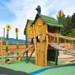 Big colorful children playground equipment — Stock fotografie #12347350