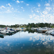 Boats and yachts in marina — Stock Photo