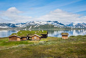 Norwegian summmer houses — Foto Stock