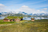 Norwegian summmer houses — Stock Photo