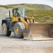 Buldozer at quarry - Stockfoto