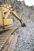 Buldozer at quarry — Stock Photo