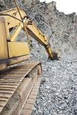 Buldozer at quarry — Stock Photo