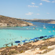 Stock Photo: Blue lagoon in Malta