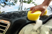 Hand car wash — Stock Photo