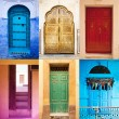 Collage with doors - Stock Photo