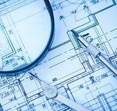 Proyecto arquitectónico de bienes raíces — Foto de Stock