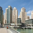 Business and financial district in Dubai - Stock Photo