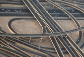 Highways, urban landscape from the top — Stock Photo
