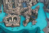 Pohled z vrcholu burdž chalífa v dubaji — Stock fotografie
