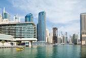 Business and financial district in Dubai — Stock Photo