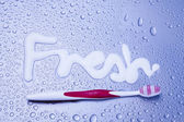 Fresh breath concept with tootbrushes — Stock Photo