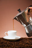 Coffee in the morning — Stock Photo