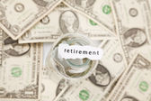 Retirement and pension concept — Stock Photo
