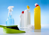 Cleaning detergents — Stock Photo