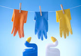 Cleaning gloves — Stock Photo