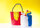 Cleaning and washing detergents — Stock Photo