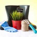 Set of gardening tools — Stock Photo