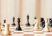 Chess pieces set on a chessboard — Stock Photo
