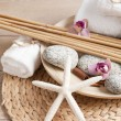 Spa and welness items, zen stones — Stock Photo #48942443