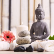 Wellness and spa concept with buddha figure — Stock Photo #48943605