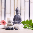Wellness and spa concept with buddha figure — Stock Photo #48943749