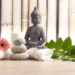 Wellness and spa concept with buddha figure — Stock Photo #48943777