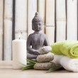 Wellness and spa concept with buddha figure — Stock Photo #48944363