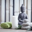Wellness and spa concept with buddha figure — Stock Photo #48944593