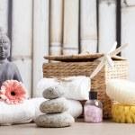 Wellness and spa concept with buddha figure — Stock Photo #48944835