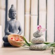 Wellness and spa concept with buddha figure — Stock Photo #48944919