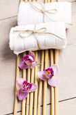 Spa and welness items, zen stones — Stockfoto