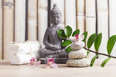 Wellness and spa concept with buddha figure — Foto de Stock