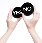 Yes or no decision — Stock Photo