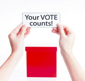 Your vote counts, election concept — Stock Photo