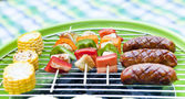 Vegetables on the grill, close-up — Stock Photo