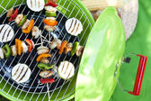 Garden party with bbq grill — Stock Photo
