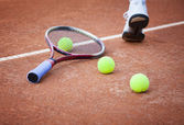 Tennis lesson, warm-up — Stockfoto