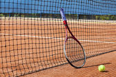 Tennis, roland garros court type — Stock Photo