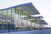 Modern Wroclaw airport terminal in Poland — Stock Photo