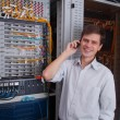 Royalty-Free Stock Photo: Network engineer in server room