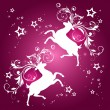 Christmas background with reindeer — Image vectorielle