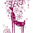 Background with reindeer - Stock Vector