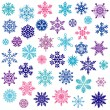 Set of vector snowflakes — Stockvectorbeeld