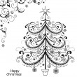 Background with Christmas tree - Stock Vector
