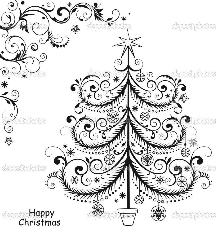 Background with Christmas tree — Stock Vector #12683753