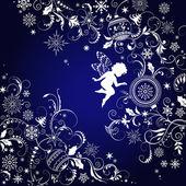 Vánoční pozadí s angel — Stock vektor