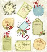 рождественские наклейки — Cтоковый вектор