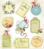 Christmas labels — Vettoriale Stock